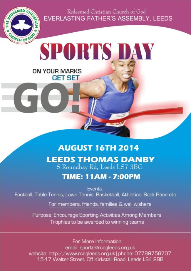 RCCG Everlasting Father's Assembly, Leeds' Sports Day 2014