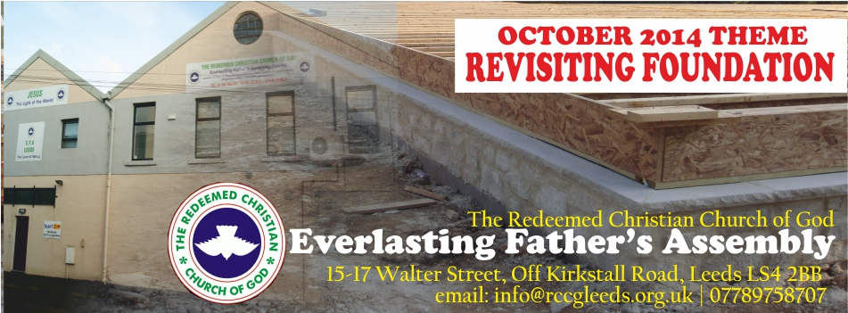 October 2014 Theme – Revisiting Foundation