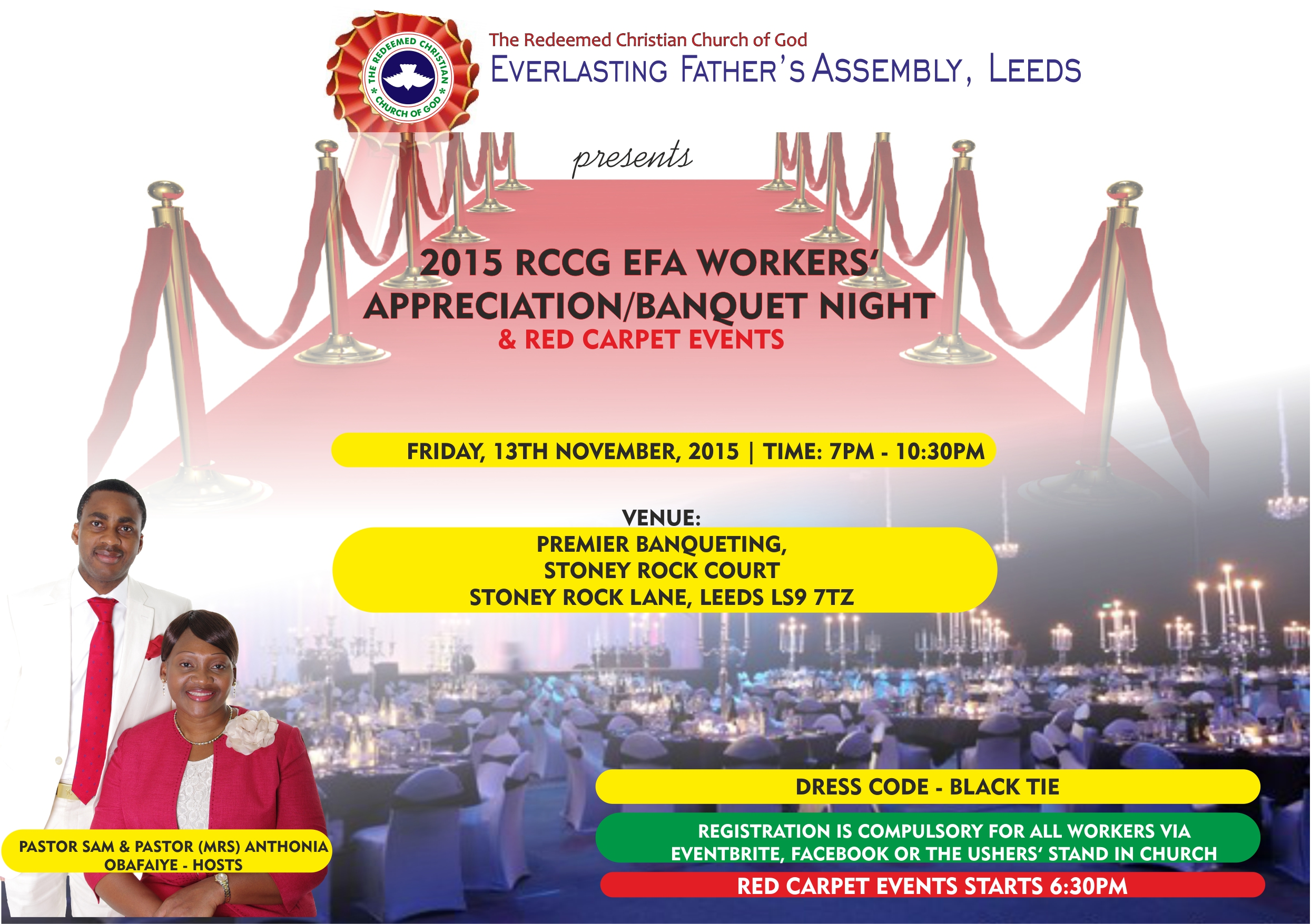 RCCG EFA Leeds 2015 Workers Appreciation/Banquet Night