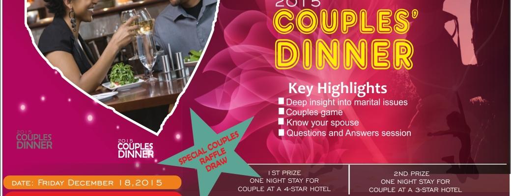 2015 RCCG EFA LEEDS COUPLES DINNER
