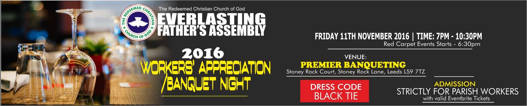 2016 RCCG EFA Leeds Workers' Appreciation/Banqueting Night