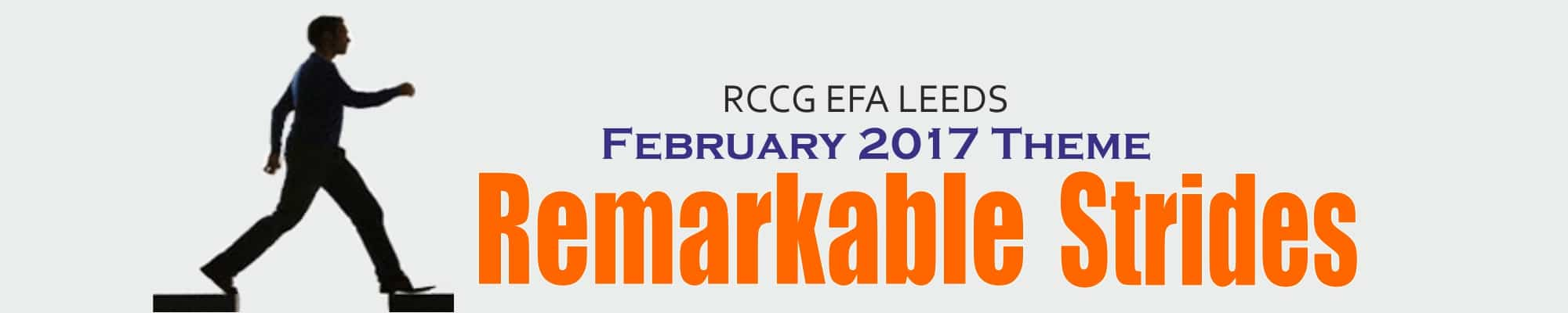 February 2017 Theme – Remarkable Strides