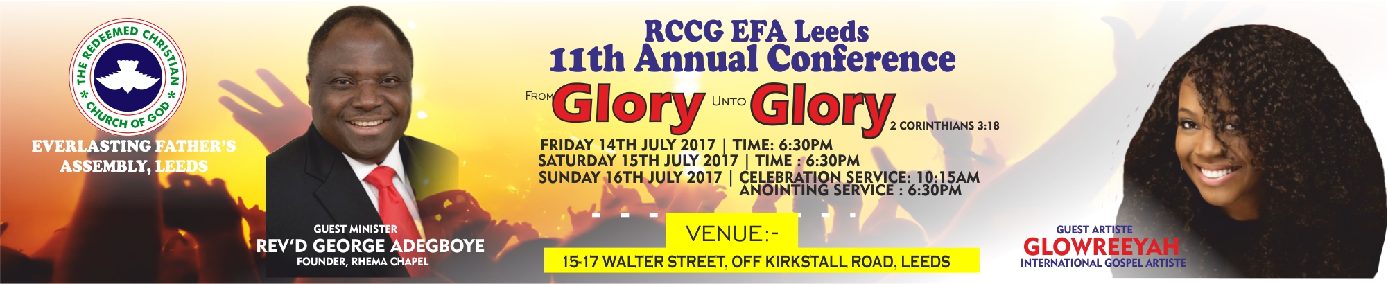 11th Annual Conference of RCCG EFA Leeds Holds July 14 – 16, 2017 at the Land of Mercy