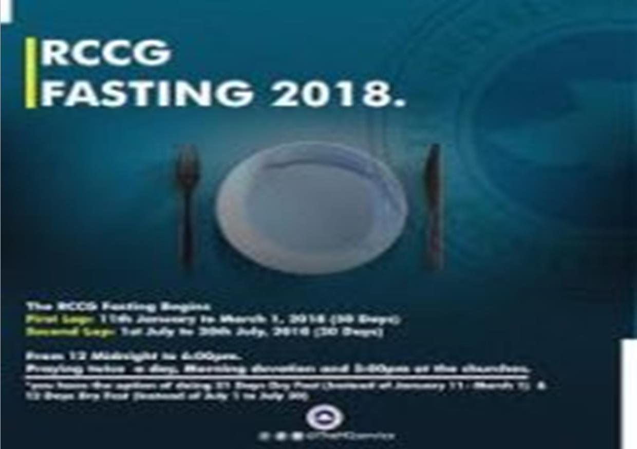 RCCG July 2018 21 Days Fasting And Prayer Guide | RCCG EFA Leeds