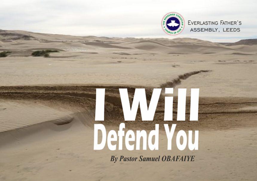 I Will Defend You, by Pastor Samuel Obafaiye