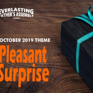 October 2019 Theme: Pleasant Surprises