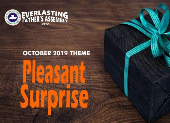 October 2019 Theme: Pleasant Surprises
