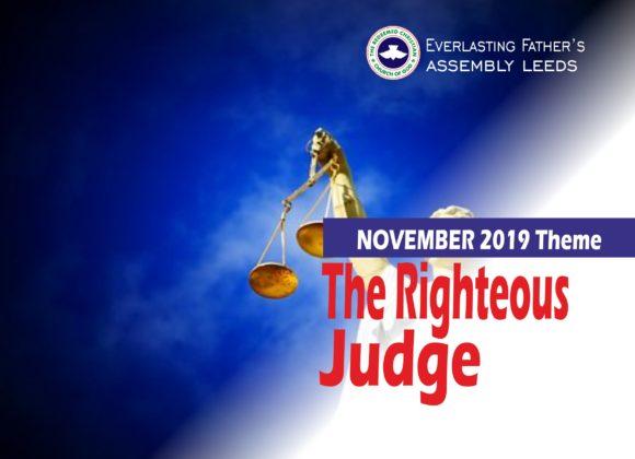 November 2019 Theme – The Righteous Judge