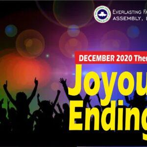 December 2020 Theme – Joyous Endings
