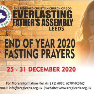 RCCG EFA Leeds End of Year 2020 Fasting Prayers